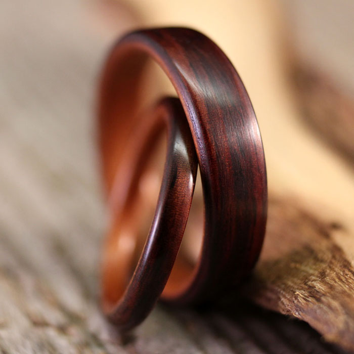 rosewood ring product indian with band northwood sustainable pau wooden rings interior natural ferro