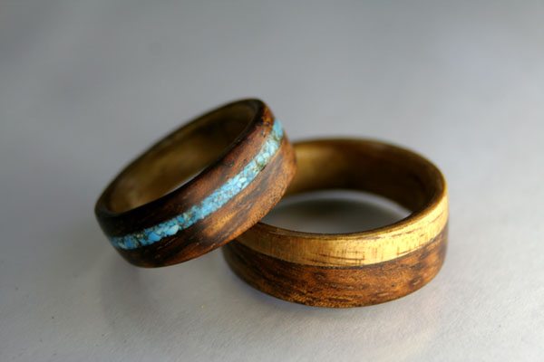 often times the discussion of custom wooden wedding rings takes place over email or phone we rarely get the opportunity to meet the recipients of the rings - Koa Wood Wedding Rings