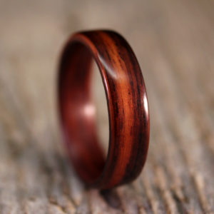 Classic Indian Rosewood Bentwood Ring
