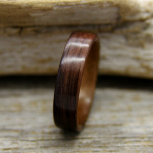 Lined Bentwood Rings