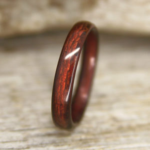 """Classic Shou Sugi Ban """"Torched Cedar"""" Bentwood Ring – Handcrafted Bent Wood Ring – Custom Made – Wedding, Engagement, Etc"""